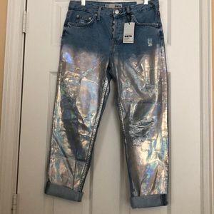 Topshop Foil Hayden Jeans